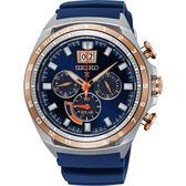 SEIKO精工 Prospex 太陽能大視窗計時手錶-藍/45mm V194-0AA0G(SSC666P1)