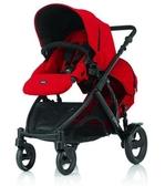 {家事達}Britax-B-DUAL雙人雙向 嬰兒手推車-紅色  特價