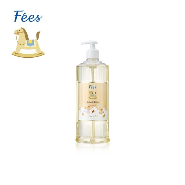 【Fees法緻】嬰兒柔護泡泡露-杏果香600ml / 洗髮沐浴 泡泡浴 泡澡