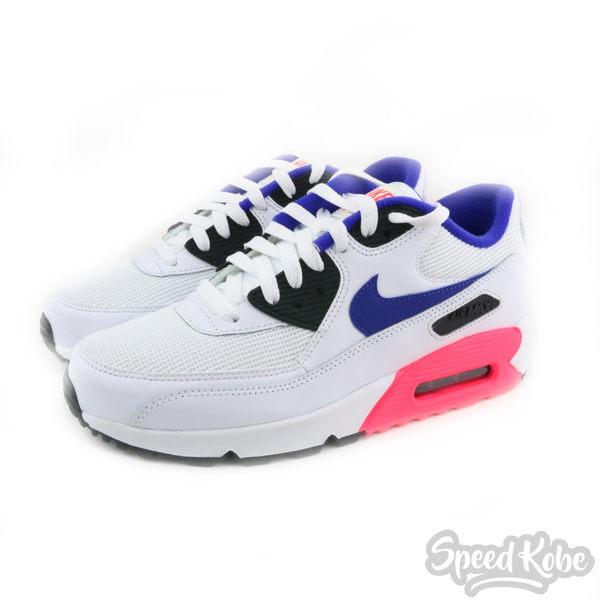 NIKE AIR MAX 90 白 藍 桃紅 大氣墊 慢跑鞋 女 537384-136☆speedkobe☆