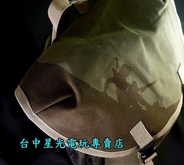 【特典商品】☆ 古墓奇兵 暗影 行軍補給包 蘿拉剪影 軍綠色 後背包 ☆全新品【台中星光電玩】
