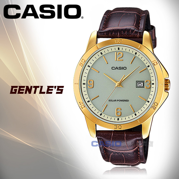 CASIO 卡西歐 手錶專賣店 MTP-VS02GL-9A 男錶 皮革錶帶  太陽能 防水 日期顯示