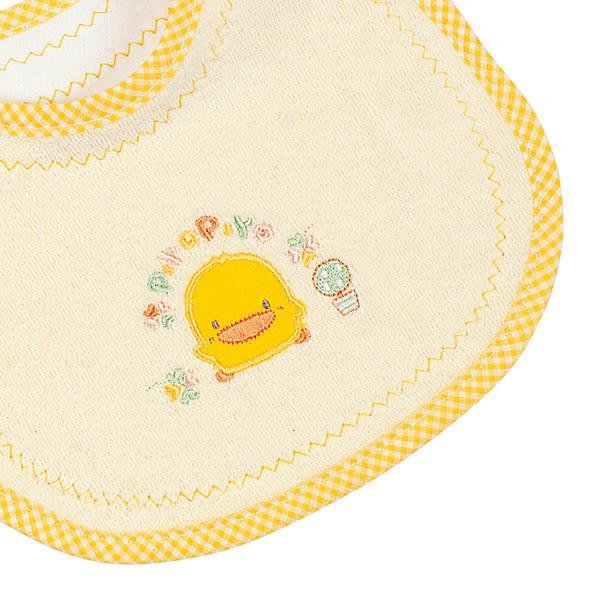 【奇買親子購物網】黃色小鴨初生圍兜(藍/黃)