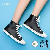 繫帶短筒雨鞋防滑雨靴可愛膠鞋水靴情侶水鞋女雨鞋【君來佳選】