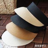 遮陽帽 空頂帽子 女草帽沙灘度假防曬帽 鴨舌帽 韓版潮太陽帽 QX8644 【棉花糖伊人】