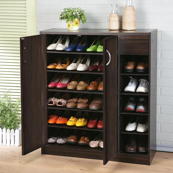 《百嘉美》建-胡桃木色收納家六層鞋櫃 鞋架 衣櫃 斗櫃 書櫃 收納櫃 SC013WA