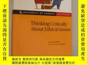 二手書博民逛書店Thinking罕見Critically About Ethic