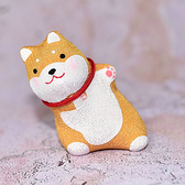 偷喵的可愛柴犬 擺飾 日本製 龍虎作 6.5cm