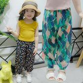 女童裝夏季寬鬆棉麻防蚊長褲子女寶寶女嬰兒
