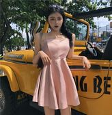 洋裝連身裙-夏秋裝新款時尚性感露背復古吊帶裙交叉肩帶沙灘裙連身裙A字短裙女Y25780