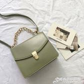 手提包 韓國極簡小眾設計鎖扣單肩小方包風琴女包時尚錬條手提包潮側背包 時尚芭莎