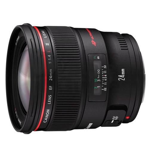 送UV保護鏡+吹球清潔組 Canon EF 24mm f/1.4L II USM 廣角鏡頭 彩虹公司貨