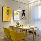 壁畫 北歐風格餐廳裝飾畫吃飯廳掛畫背景牆面創意個性餐桌現代簡約壁畫T