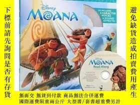 二手書博民逛書店海洋奇緣罕見英文原版 Moana Read-along(書+CD