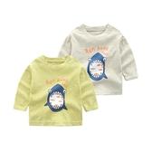 兒童長袖上衣 純棉打底衫韓版裝新款兒童長袖圓領體恤寶寶韓版 莎瓦迪卡