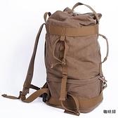 相機後背包-大容量戶外登山帆布雙肩攝影包2色71a41[時尚巴黎]