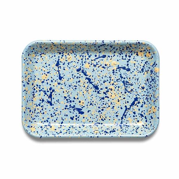 BORNN琺瑯 ISLAND BREEZE長托盤26cm-地中海藍