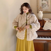 冬季新款復古法式chic寬鬆毛茸茸加厚保暖長袖外套女時尚套裝 雅楓居