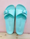 【震撼精品百貨】Hello Kitty 凱蒂貓~台灣製正版成人細版拖鞋-綠色(36~39號)