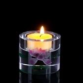 圓通佛具水晶酥油燈座家用供奉酥油蠟燭台佛堂供佛燈架供燈長明燈『摩登大道』
