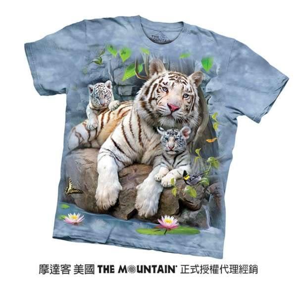 【摩達客】(預購)(男童/女童裝)美國進口The Mountain 白虎家族 純棉環保短袖T恤(10416045028a)