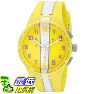 [美國直購] Swatch Men s SUSJ100 Chronoplastic-Amorgos Analog Display Quartz Yellow Watch 手錶