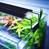 水族箱小型魚缸LED燈防水魚缸燈管支架燈草缸超薄LED拉桿燈水草燈