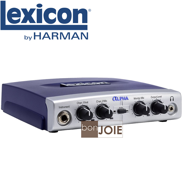::bonJOIE:: 美國進口 Lexicon Alpha USB Desktop Recording Studio 高級USB音效盒(錄音卡 外接音效卡 耳擴)