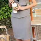 ZY-955-PF黑灰色OL合身窄裙短裙~美之札