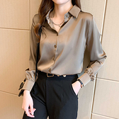 M-4XL長袖襯衫~7183#韓版百搭通勤基礎款襯衫女長袖上衣T317A莎菲娜