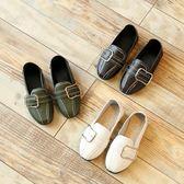 公主鞋 季新款兒童皮鞋金屬扣百搭女男豆豆鞋 GB1127『優童屋』
