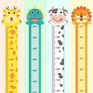墻貼 卡通身高貼紙兒童房墻面裝飾寶寶測量身高自粘可移除