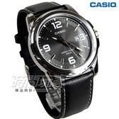 CASIO卡西歐 MTP-1314L-8A 世界城市新風範真皮指針男錶 中性錶 女錶 日期窗 防水手錶 黑 MTP-1314L-8AVDF