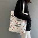 年網紅流行帆布包包女大容量購物袋單肩帆布袋 - 風尚3C