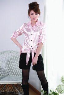 春夏裝 新款女裝 韓版 修身 收腰 襯衫 氣質 女 長袖襯衫