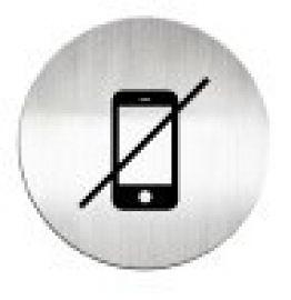 迪多deflect-o  610910C   禁止使用手機-鋁質圓形貼牌 / 個