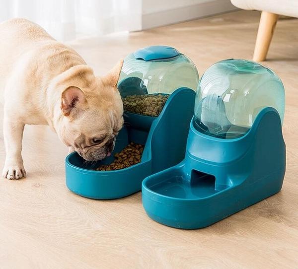 寵物餵食器 自動飲水器喂食器喝水器掛式流動神器泰迪飲水機貓咪寵物用品【快速出貨八折搶購】