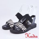 kadia.斑馬毛皮平底涼鞋(9123-18白色)