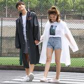 金豬迎新 旅行磨砂透明長款雨衣女成人韓國時尚男戶外單人徒步雨披
