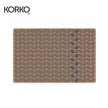 葡萄牙KORKO 軟木餐墊-黑葉子 (一組二片)