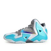 Nike Lebron XI (GS) [621712-400] 童鞋 運動 籃球  灰 水藍