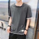 【精選新品任搭2件$499】純棉短袖T恤簡約設計男款時尚T恤