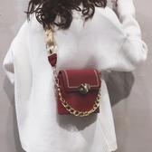 水桶包 小包包女2020新款時尚鏈條手提洋氣水桶包百搭ins網紅單肩斜挎包【免運】