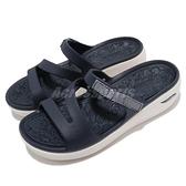 Skechers 涼拖鞋 Arch Fit Ascend-Sweet Pea 女鞋 深藍 白 足弓鞋墊 醫師推薦 拖鞋【ACS】 111234NVY