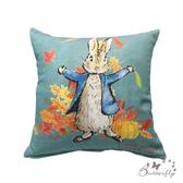 【BUTTERFLY】台製-Peter Rabbit彼得兔經典系列抱枕-楓葉