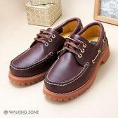 【WALKING ZONE】經典復刻雷根鞋(酒紅色) 小牛皮手工-男_男女款尺寸皆有