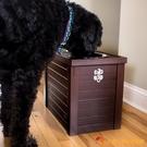 寵物儲糧餐桌中大型犬狗碗儲糧桶大狗高碗【小獅子】