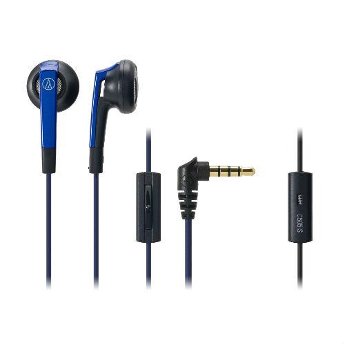 鐵三角耳塞式耳機ATH-C505iS藍_附整線固定器【愛買】