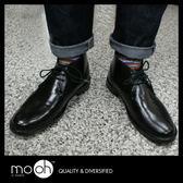 日本男士仿皮鞋綁帶低筒雨鞋 英倫風中筒皮革感雨靴 mo.oh (男士鞋款)