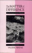 二手書《The Matter of Difference: Materialist Feminist Criticism of Shakespeare》 R2Y ISBN:0801499658